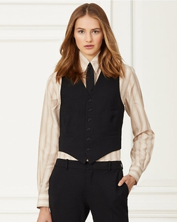 Roland Stretch Wool Vest by Ralph Lauren in Empire