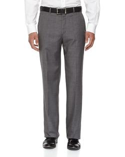 Flat-Front Wool Sharkskin Pants, Gray by Neiman Marcus in Jersey Boys