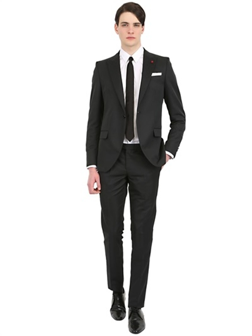 Slim Fit Techno Wool Suit by Manuel Ritz in Hitman: Agent 47
