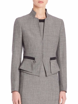Wool Peplum Jacket by Akris Punto in How To Get Away With Murder