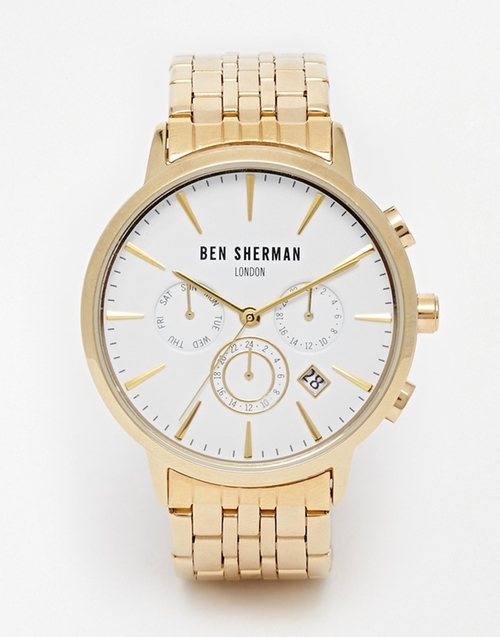 Chronograph Stainless Steel Watch by Ben Sherman in The Nice Guys