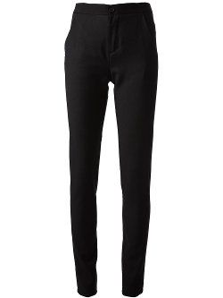 Slim Fit Trousers by Mm6 By Maison Martin Margiela in Blackhat