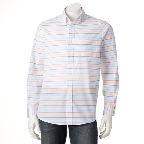 Striped Button-Down Shirt by Dockers in Modern Family - Season 7 Episode 1