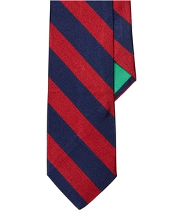Striped Silk Repp Tie by Polo Ralph Lauren in Black-ish