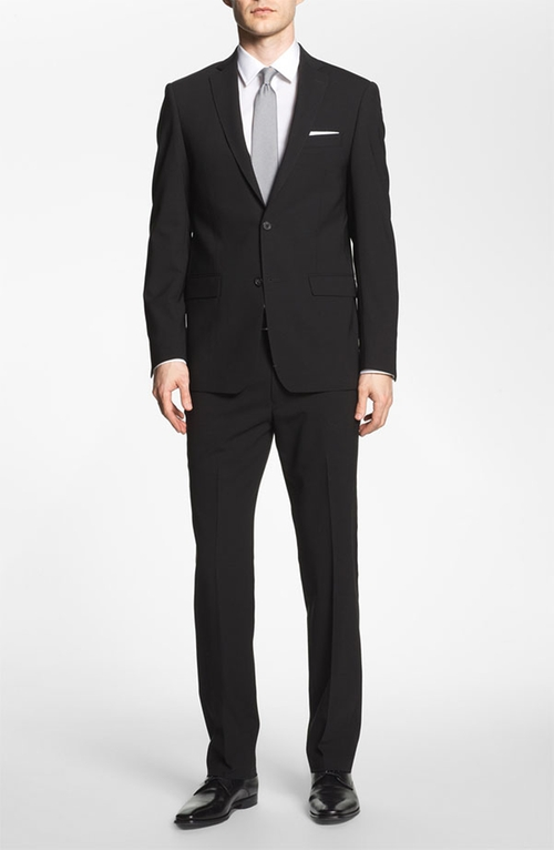 Trim Fit Stretch Wool Suit by Michael Kors in Master of None - Season 1 Episode 8
