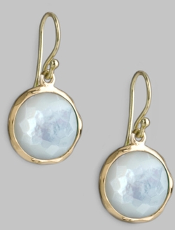 Lollipop Mother-Of-Pearl & 18k Yellow Gold Mini Drop Earrings by Ippolita in Ricki and the Flash