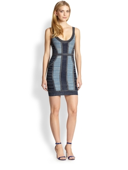 Women's Blue Denim Tank Bandage Dress by Hervé Léger  in Southpaw