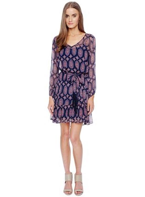 Marigold Silk Print Dress by Ella Moss in The Big Bang Theory - Season 9 Episode 24
