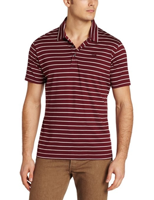 Men's Stripe Jersey Polo by Boast in Mean Girls