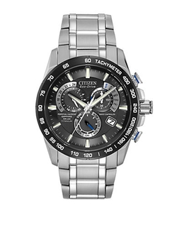 Eco-Drive Titanium Perpetual Chronograph Watch by Citizen in Suits