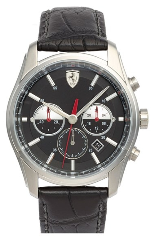 Chronograph Leather Strap Watch by Scuderia Ferrari in San Andreas