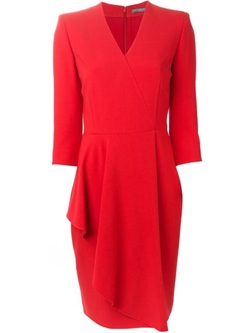 Aymmetric Drape Dress by Alexander Mcqueen in Scandal