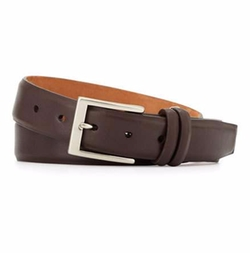 Interchangeable Buckles Basic Leather Belt by W. Kleinberg in Empire