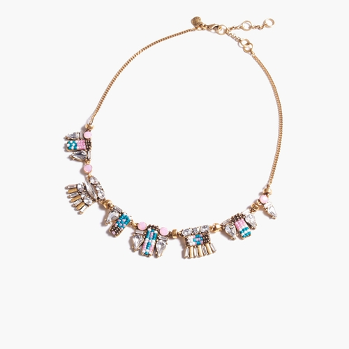 Crystal Bead Necklace by J.Crew in Arrow