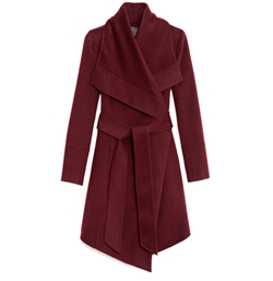 Belted Draped Lapel Cashmere Coat by Donna Karan  in How To Get Away With Murder