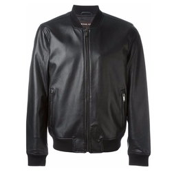 Leather Bomber Jacket by Michael Kors in Billions