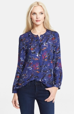 'Meade' Print Silk Blouse by Parker in The Second Best Exotic Marigold Hotel