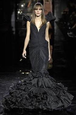 Fall 2007 Black Gown by Zac Posen in Sex and the City