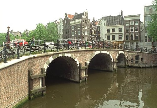 Torensluis Bridge Amsterdam, Netherlands in The Counselor