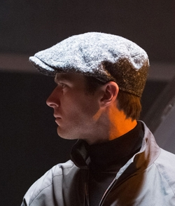 Custom Made W. Bill Wool Ivy Cap by Joanna Johnston (Costume Designer) in The Man from U.N.C.L.E.