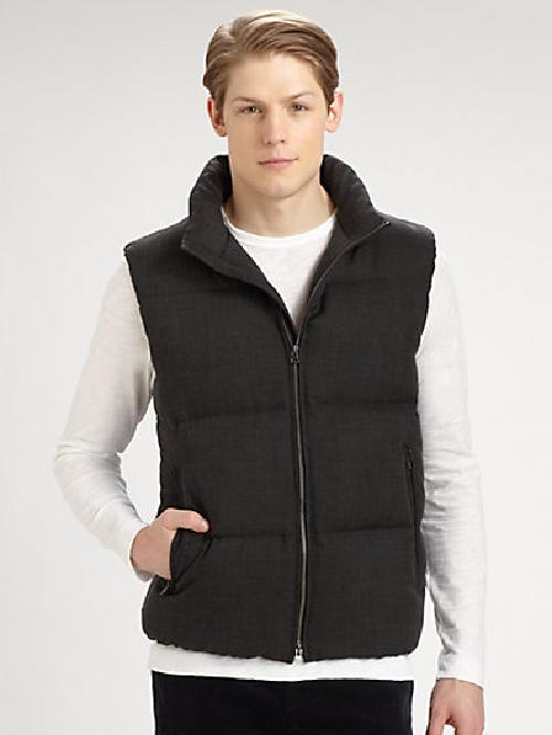 Ahab Nevado Puffer Vest by Theory in Neighbors