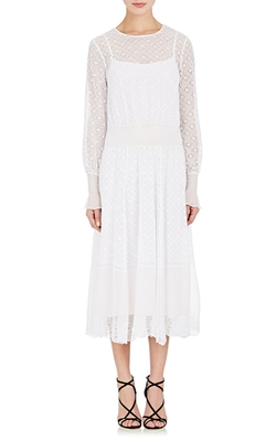 Eyelet & Georgette Maxi Dress by Philosophy Di Lorenzo Serafini in Supergirl