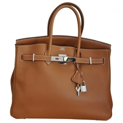 Birkin Camel Leather Handbag by Hermès in The Women