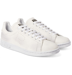Raf Simons Stan Smith Distressed Leather Sneakers by Adidas in Ashby