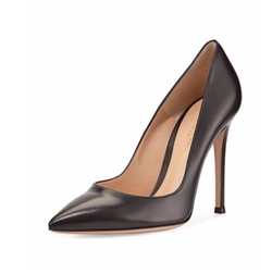 Leather Pointed-Toe Pumps by Gianvito Rossi in Chelsea