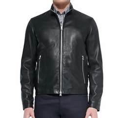 Basic Leather Jacket by Theory in Empire