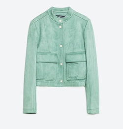 Suede Effect Jacket by Zara in Pretty Little Liars