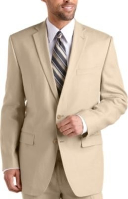Madison Fit Plaid Linen Suit by Brooks Brothers in Crazy, Stupid, Love.