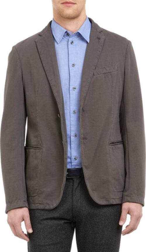 Jersey Two-Button Sportcoat by ARMANI COLLEZIONI in Jersey Boys