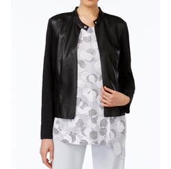 Janet Lace-Up Leather Jacket by Elie Tahari in Pretty Little Liars