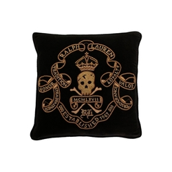 Maddox Skull & Crossbones Pillow by Ralph Lauren Home in Keeping Up With The Kardashians