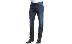 Five-Pocket Medium-Wash Denim Jeans by Armani Collezioni in Rosewood