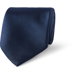 Silk-Satin Tie by Gucci in Legend