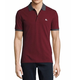 Contrast-Trim Piqué Polo Shirt by Burberry in Lethal Weapon
