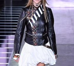Spring/Summer 2016 Collection Leather Jacket by Louis Vuitton in Keeping Up With The Kardashians