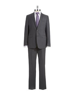 Two Piece Extreme Slim Fit Suit by Calvin Klein in Unfinished Business