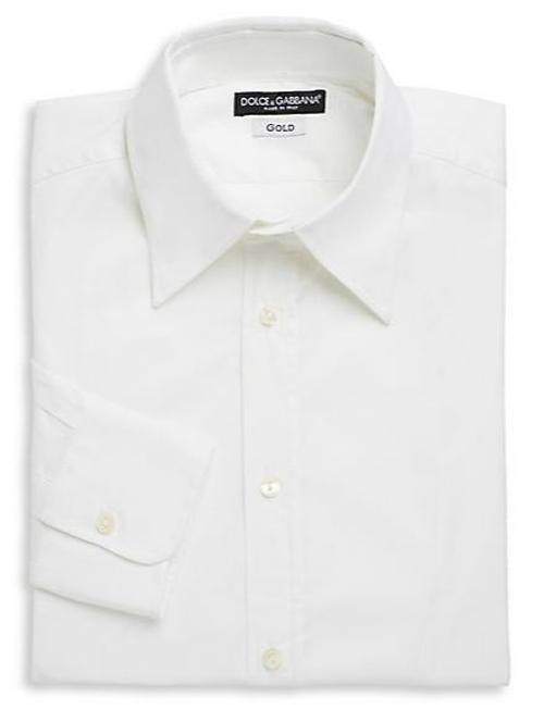 Regular-Fit Stretch Cotton Woven Dress Shirt by Dolce & Gabbana in Anchorman 2: The Legend Continues