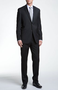 Jones Trim Fit Wool Suit by Ted Baker London in The Gunman
