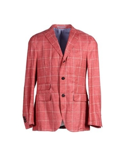 Checked Blazer by Michael Bastian in Vinyl