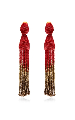 Ombré Tassel Earrings by Oscar De La Renta in Empire