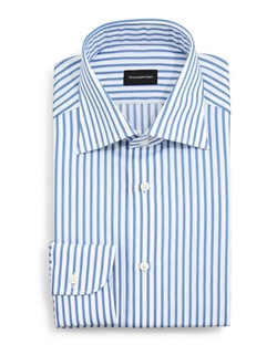 Bold Striped Dress Shirt by Ermenegildo Zegna in Elementary