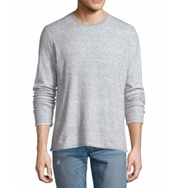 Tripp Melange Long-Sleeve Crewneck Shirt by Rag & Bone in Keeping Up With The Kardashians