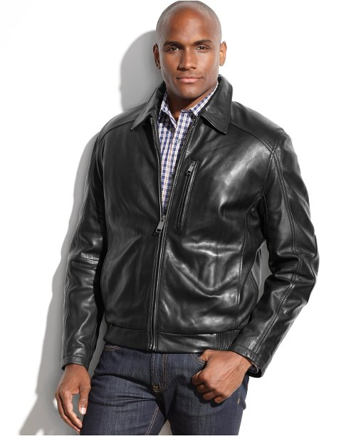 Serge Smooth Leather Bomber Jacket by Marc New York in Need for Speed