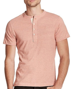 Pensacola Short-Sleeve Henley Shirt by Billy Reid in Inherent Vice