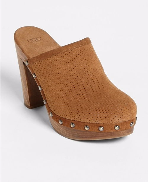 15 Minutes Water Resistant Perforated Suede Clog by UGG  in Pretty Little Liars - Season 6 Episode 19