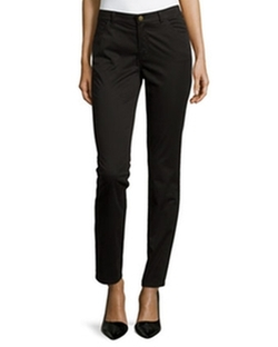 Slim-Fit Twill Pants by Lafayette 148 New York in A Walk in the Woods
